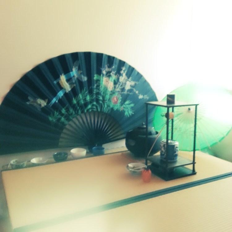 Tearoom in summer setting