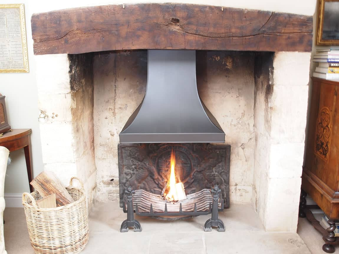 Open Fire Grate  Fireplace Canopies  Dog Irons Camelot Real Fires