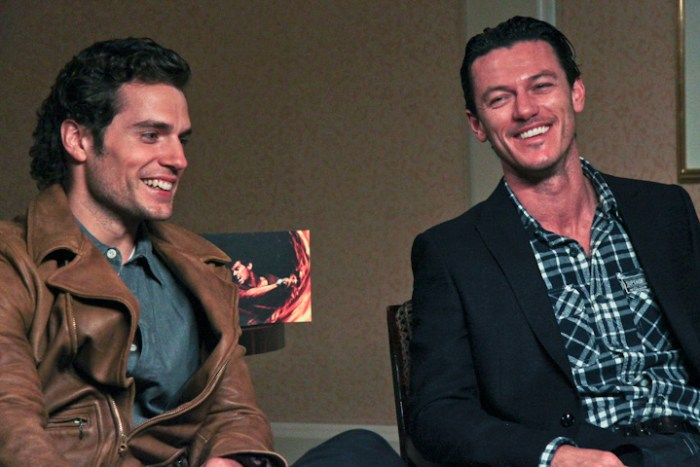 Henry Cavill and Luke Evans in San Francisco at WondeCon
