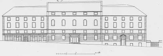 Plan d'un projet de théâtre pour la place de la république à Limoges