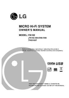 LG FA 162 (Other) Manuals