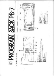 Minolta Program Back 7 Printed Manual