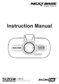 NextBase 512GW Ultra Printed Manual