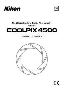 Nikon Coolpix 4500 (Camera) Manuals