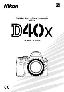 Nikon D40X Printed Manual