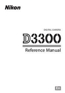 Nikon D3300 Printed Manual