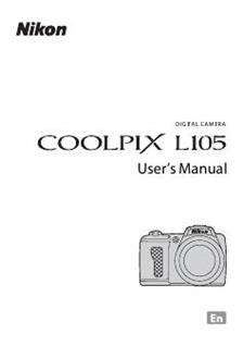 Nikon Coolpix L105 Printed Manual
