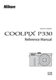 Nikon Coolpix P330 Printed Manual