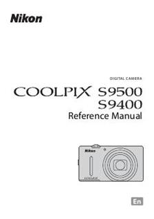 Nikon Coolpix S9500 Printed Manual