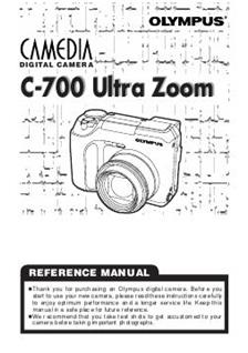 Olympus C 700 UZ Printed Manual