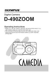 Olympus C 990 Zoom Printed Manual