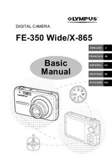 Olympus FE 350 Wide Printed Manual
