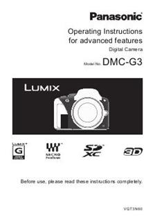 Panasonic Lumix G3 (Camera) Manuals