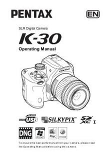 Pentax K 30 Printed Manual