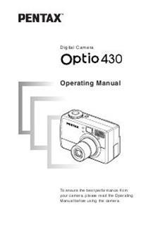 Pentax Optio 430 Printed Manual