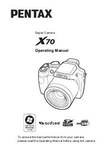 Pentax X70 Printed Manual