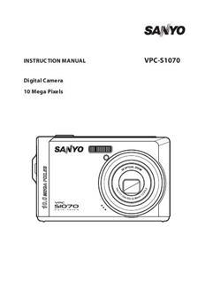 Sanyo VPC S 1070 Printed Manual