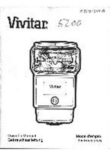 Vivitar 5200 Printed Manual