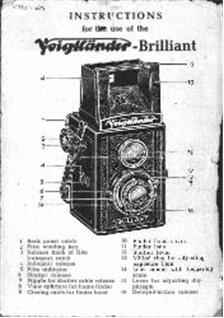 Voigtlander Brilliant Printed Manual