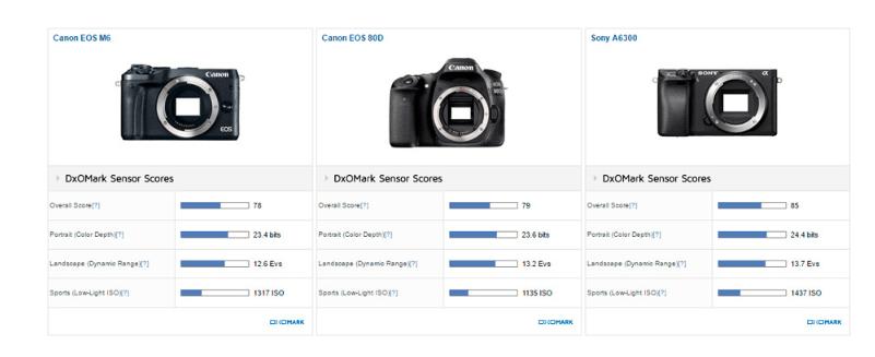 Canon EOS M6 Sensor Review (DxOMark) : Worthy Upgrade