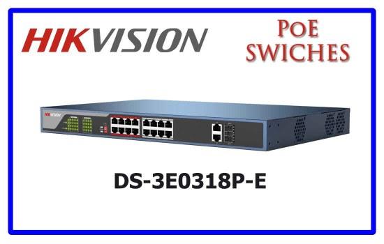 DS-3E0318P-E - Hikvision PoE Switch
