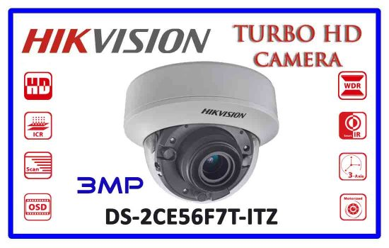 DS-2CE56F7T-ITZ - Hikvision 3mp Turbo HD Camera Advanced Digital technology Colombo