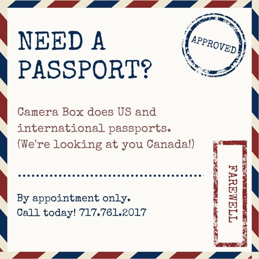 Red and Blue Passport Invitation