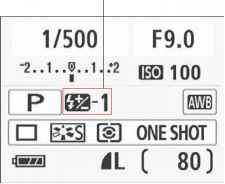 Adjusting flash power with flash exposure compensation