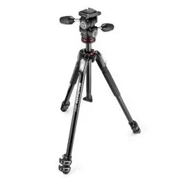 Manfrotto 190X Alum 3 Section Tripod w/ 804RC2 3 Way Head