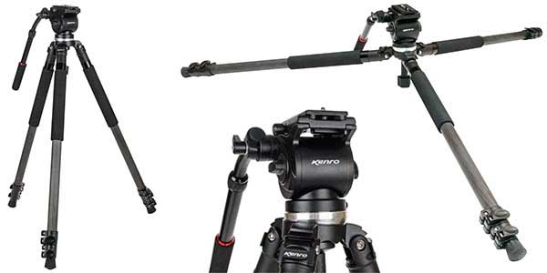 Kenro launches carbon fibre KENVT102C video tripod