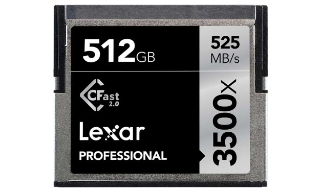 Lexar launches 512GB Professional 3500x CFast 2.0 Card price £1,732.99