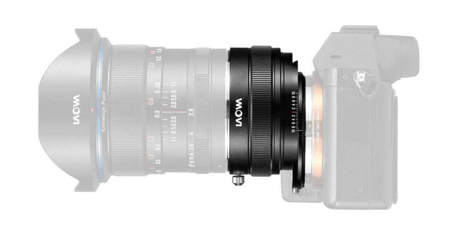 New Laowa Magic Shift Converter for Sony E-mount corrects converging verticals