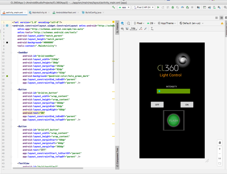 Android App under development.