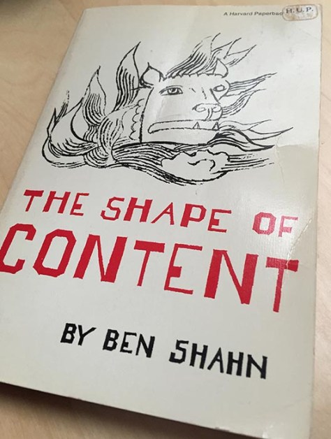 Ben Shahn's The Shape of Content