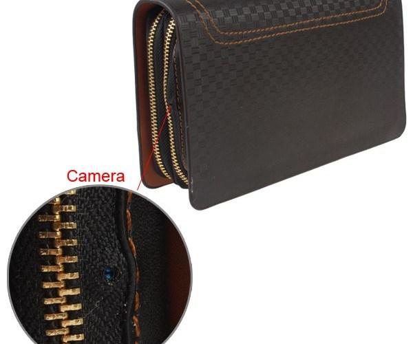 Portefeuille caméra espion