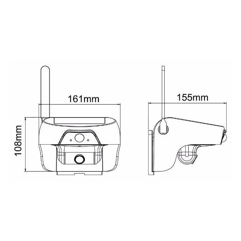 Caméra surveillance solaire infrarouge extérieure HD