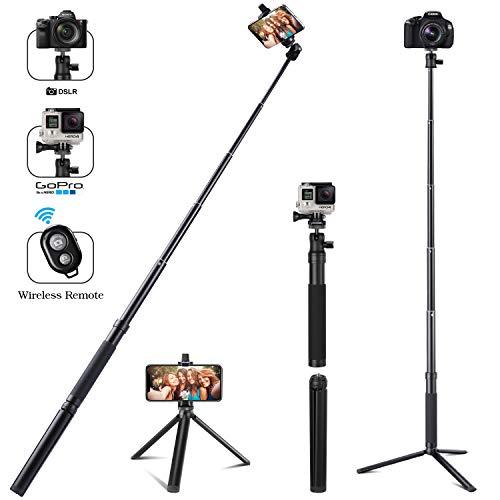 Apsung Selfie Stick Tripod, 54-Inch Extendable Selfie