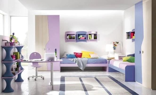 Camerette con doppio letto Spazio condiviso o pareti