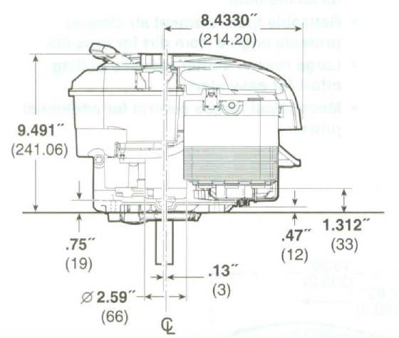 Briggs & Stratton 675 Series190cc VerticalShaft Engine 7/8
