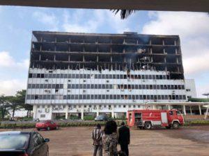 Feu à l'Assemblée Nationale du Cameroun 2