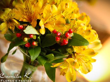Arranjo Floral para mesa bistrô