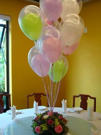 Centro de Mesa com Balões