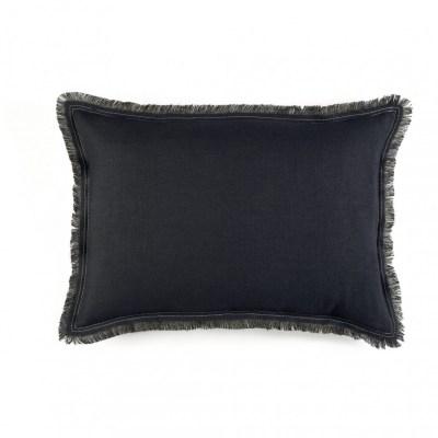 Karma Noire and Flax Linen Cushion