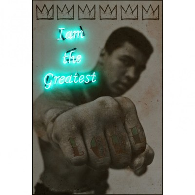 Muhammad Ali Neon Artwork