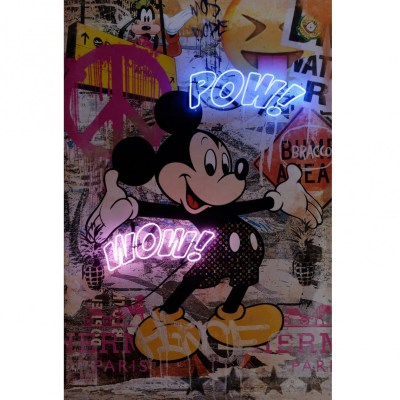 Mickey Mouse Neon Artwork