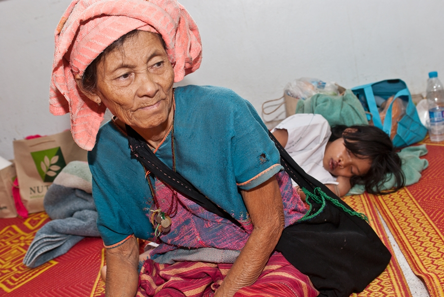 A Karen woman with her grand daughter after surgery Operation Smile
