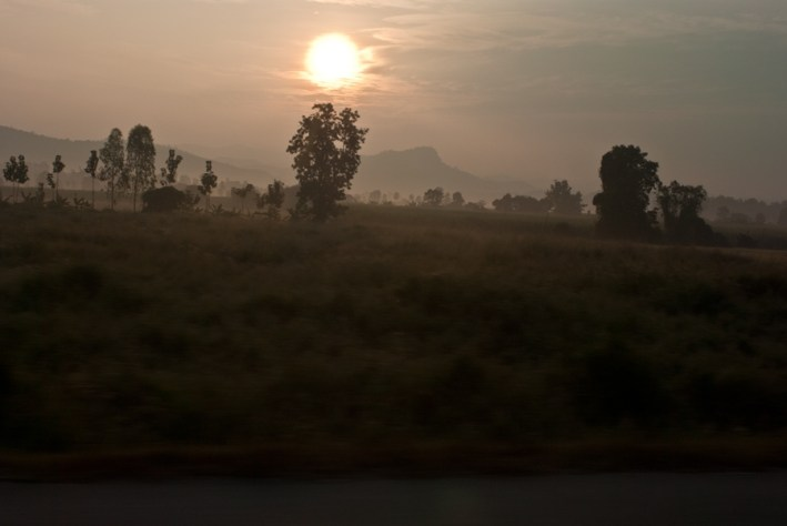 Mae Sot surroundings early morning