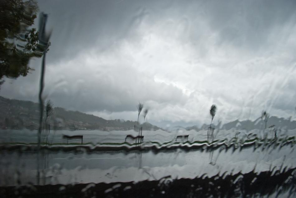 The Bosphorus in the rain