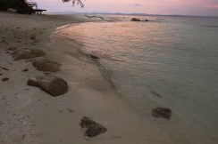 Koh Munnork, sunset at the beach
