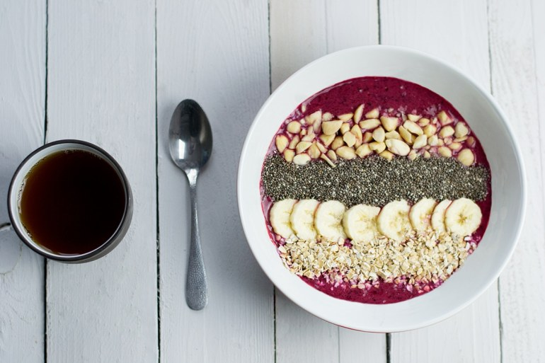 smoothie bowl framboise
